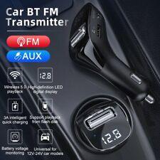 Bluetooth 5.0 FM Transmitter Auto MP3 Player USB KFZ SDAUX Freisprechanlage DHL