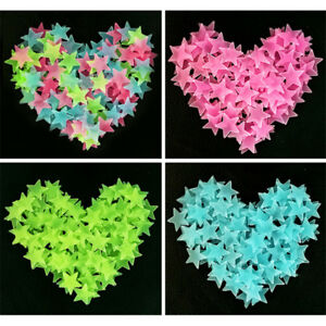 Glow in the dark stars plastic shapes for bedroom ceiling wall child's nursery