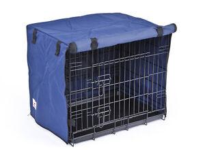 2 Door Waterproof Dog Crate Covers, Blue, Fit Small, Medium, Intermediate, Large