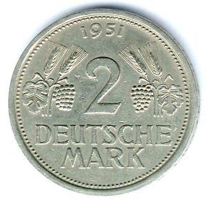 """BRD 2 Mark 1951 F. """"Ähren"""" Jaeger 386 ss/vz"""
