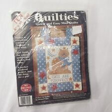 NEW Perfect Cat Quiltie Kit Michael Palan Mini Quilt Kitty Kitten Craft USA NIP