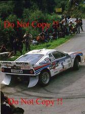 MARKKU ALEN MARTINI LANCIA 037 TOUR DE CORSE RALLY 1984 Fotografia