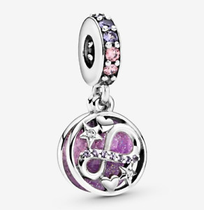NEW Genuine Pandora Silver Glittering Infinity Hearts & Stars Charm 798829C01