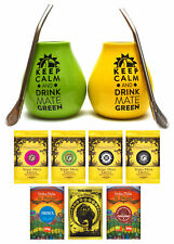 BIG Yerba mate set for two: various Yerba mate kinds + necessary accessories !!