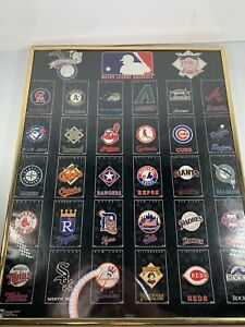 Norman James Vintage MLB Logo Poster 1995 16 X 20 Inches Cleveland Indians Expos