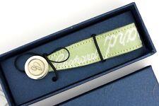 "Chopard 95/7090 Green Canvas Phone Strap Silver C Logo Monogam  3.5"""