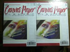 Canvas Paper | Oil & Acrylic | Royal  & Langnickel | Set of 2 (5x7, 18 pg. pads)