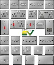 BG Nexus Switches & Sockets - Complete Range -  Brushed Steel / Polished Chrome