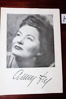 Postkarte Ansichtskarte Schauspielerin Autogramm