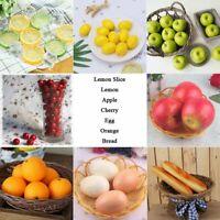 Artificial Simulation Fake Fruit Food Faux Lemon Cherry Home Decor Theater Prop