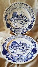 Two English Ceramic Fish And Chip Plates John Buck British King Edward Vl223