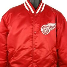 Detroit Red Wings Starter Jacket Vintage 80s Hockey Satin Bomber Made In USA XL