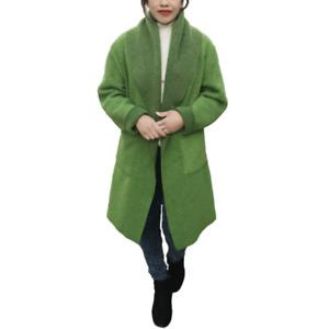 Womens Winter Blanket Poncho Ladies Warm Cape Wool Kimono Robe Shawl  Cardigan