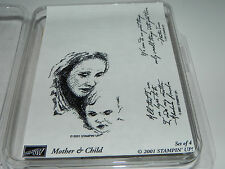 Stampin Up Mother & Child Stamp Set 4 All that I am or Hope to Be I owe to my Mo