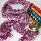 Bufanda, Pañuelo mujer con perlen-fransen- Rayas batik-crash, india hippie GOA