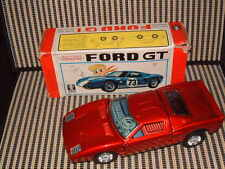 BANDAI 4190 FORD GT BUMP & GO ACTION +, MID 1970'S W/ORIGINAL BOX/FULLY WORKING!