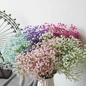 Artificial Fake Silk Gypsophila Baby's Breath Flower Wedding Bouquet Home Decor