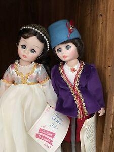 """Madame Alexander 2 Dolls Portrait Children Romeo 1360 & Juliet 1370 12""""  Boxes"""