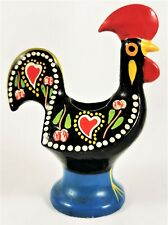 Portugal Rooster Toothpicks Holder Vintage Aluminum Hand Painted Multicolor Folk