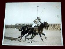 Polo - Captain Roark (Aurora) vs Casares (Santa Ines) - Original Photo 1930's