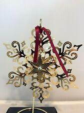 Beacon Rare extra large Prototype goldplate Snowflake Ornament #10532