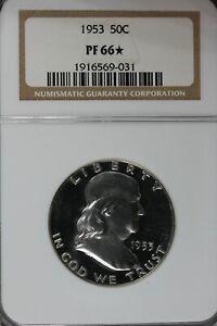 1953 50C NGC PF 66*    Franklin Half Dollar, Bell Half