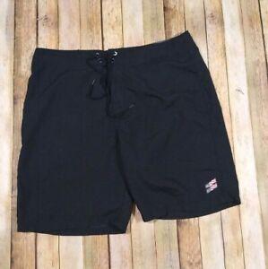 """Hurley OAO 20"""" Slash Shorts Size 34 Black Unlined Board Surf Beach"""