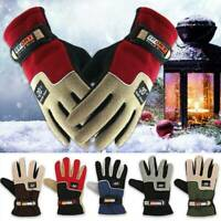 Mens Winter Warm Windproof Waterproof Fleece Lined Thermal Touch Screen Gloves-