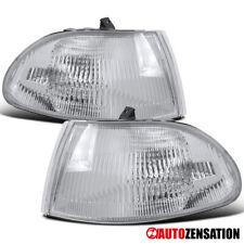 For 92-95 Honda Civic 4Dr Sedan Clear Turn Signal Corner Lights Lamps