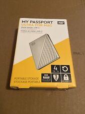 WD My Passport Ultra WDBFTM0040BSL 4 TB Hard Drive - External - Portable