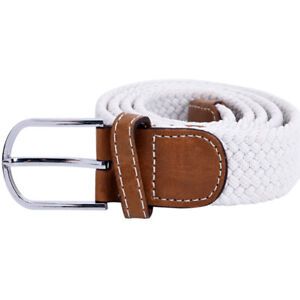 Belt For Men Elastic Waistband Canvas Buckle Braided Mens Woven Stretch StraD P5