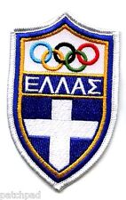 ATHENS 2004 OLYMPIC COLLECTIONS: GREEK GREECE OLYMPIC TEAM LOGO PATCH