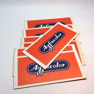 Lot of Vintage AGFA Agfacolor Photograph & Negative Envelopes