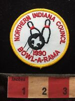 Vtg 1990 Bowling Boy Scout Northern Indiana Council Patch BOWL-O-RAMA 76WV