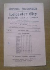 Leicester (Finalist) v Birmingham C, 15/01/1949 - FA Cup 4th Rd Replay Programme