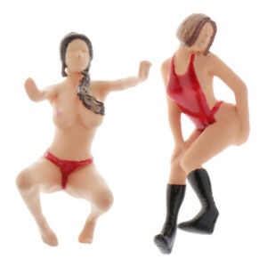 Standard Scale 1:64 Lady Figures Model Sand Table DIORAMA Collectibles