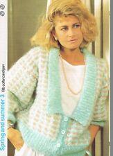 RIB COLLAR CARDIGAN knitting pattern - Marshall Cavendish pamphlet SS3