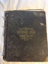 1874 Atlas Noble County, Indiana, Elkhart etc, 34 Maps, 18 Pgs. Engrvs, Complete