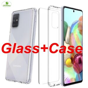 Tempered Glass SCREEN PROTECTOR &Shockproof Protective CASE COVER Samsung Galaxy