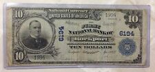 Rockport, Indiana National Currency $10 Bill RARE