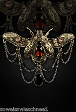 Golden Steampunk Käfer Haarspange Clip Haarschmuck Beetle Gothic Lolita Hairclip