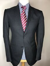 Hackett MAYFAIR LONDRES Luxe Createur Veston uni gris anthracite 40R