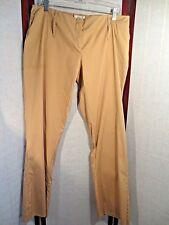 PRADA TAN cotton Straight-Leg Pants 46 XL *NEW*