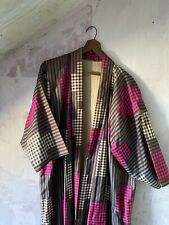 Men's XL/L Silk Kimono • Beautiful colors • Handcrafted • Vintage