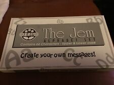 JEM Alphabet Cutters, Set of 64 Cutters, Full Set
