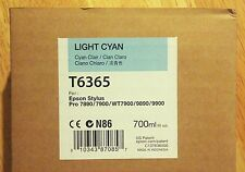 12-2017 NIB EPSON T6365 Light Cyan Ink 700ml for Stylus Pro 7890/7900/9890/9900