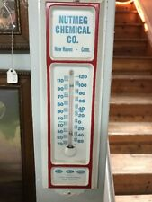 vintage metal advertising thermometers Nutmeg Chemical Co. New Haven Conn.