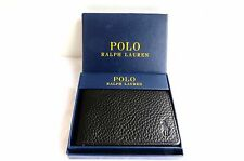 Ralph Lauren Polo Black Leather Wallet With Coin Pocket
