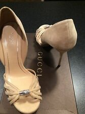 Gucci Jenna D'Orsay suede sandals in size IT39.5 (UK 6.5), bought for 600GBP