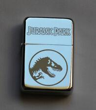 JURASSIC PARK -  chrome petrol lighter ---------- [Cd:044.mc-40-lP.] mini poster